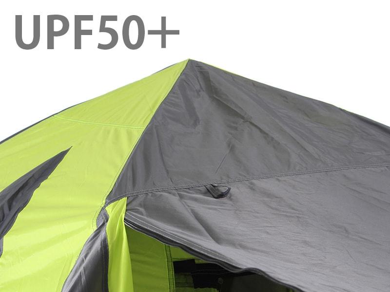 ワンタッチテントの各部の特徴(UPF50+)