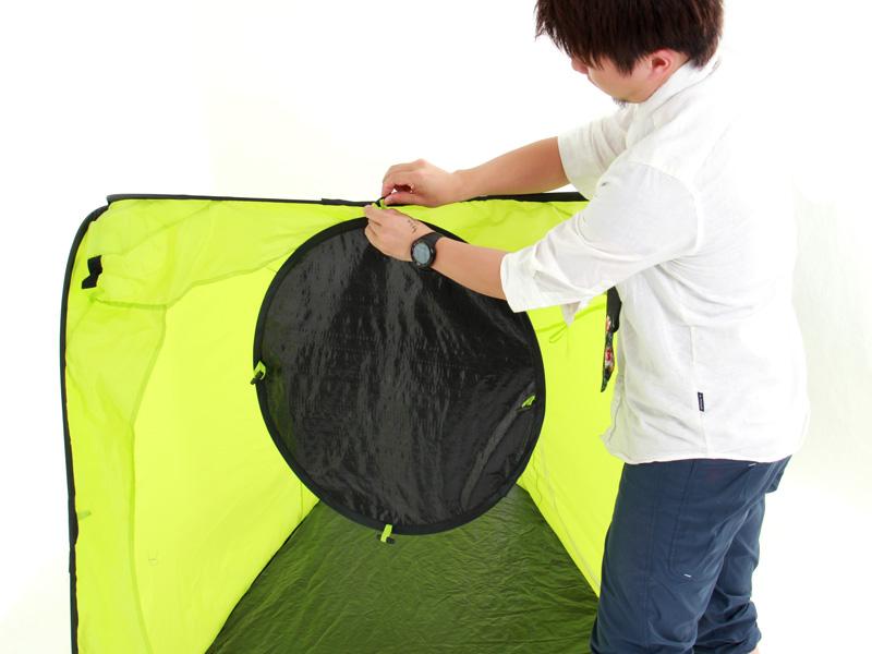 お昼寝&お着替えテントお昼寝テントとしての設営方法画像