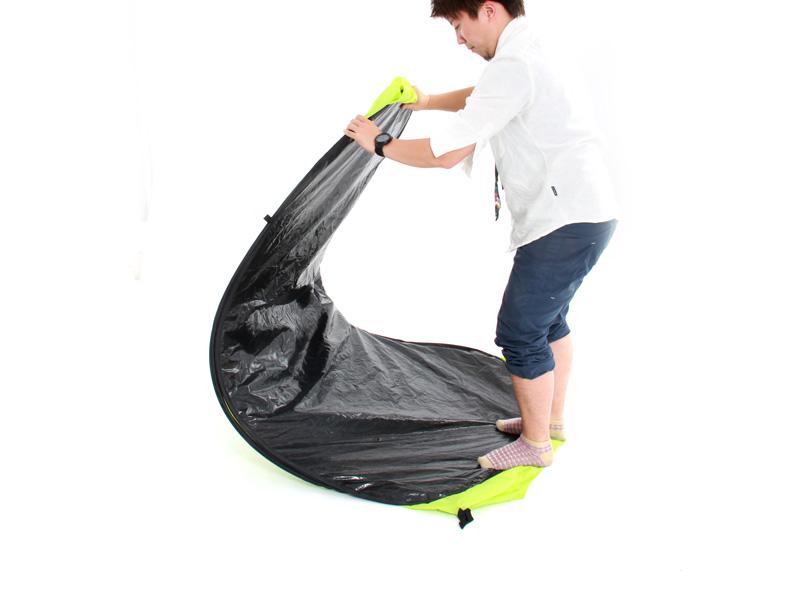 お昼寝&お着替えテントの収納/撤収方法
