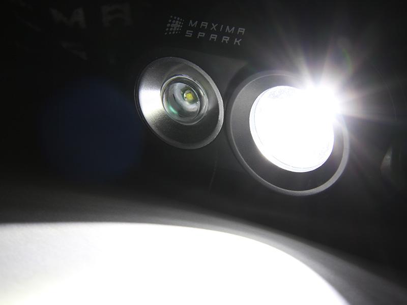 ハイパワーデュアルアイLEDヘッドライトのメインの特徴(明るさ最大320ルーメン)