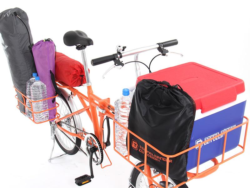2WAYアウトドアバイクのメインの特徴(大容量の運搬スペース)