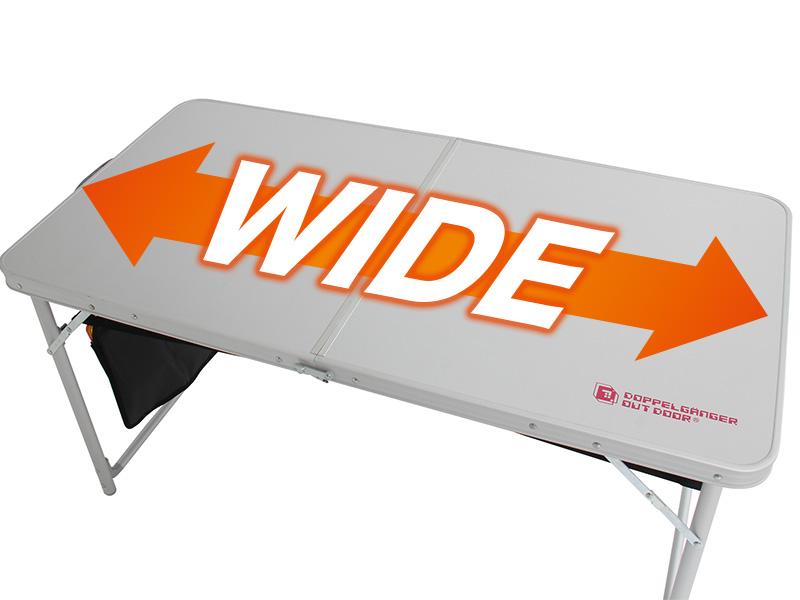 ハッピーテーブルセットの各部の特徴(ワイド天板)