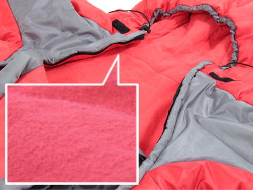 人型寝袋ver5.0 ヌクヌクシリーズのメインの特徴(こだわりのぬくぬくポイント:フランネル(起毛)裏地)