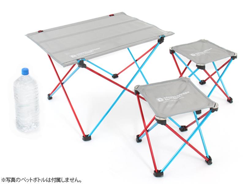ウルトラライトテーブルセットの各部の特徴()