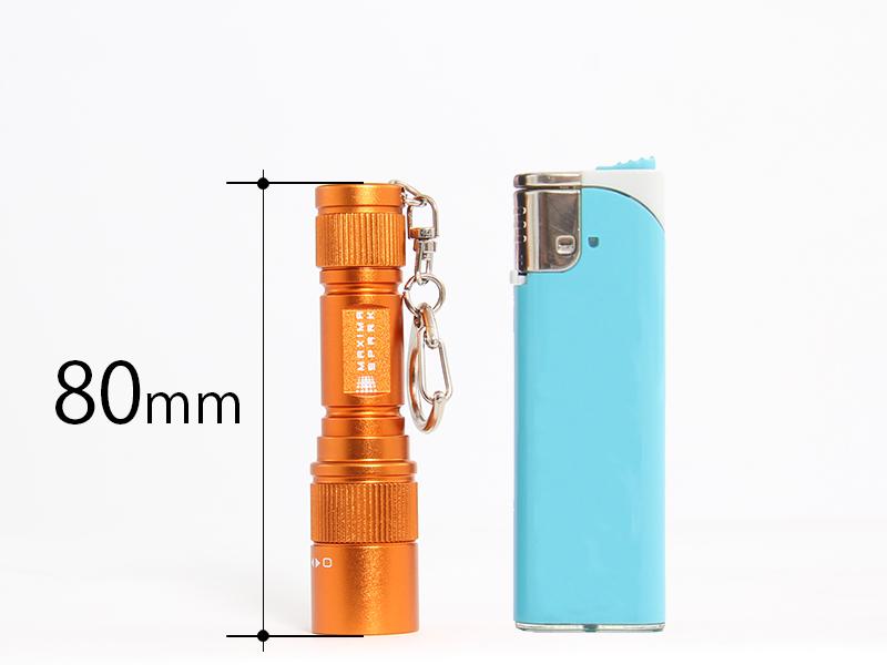 マキシマスパーク LEDマイクロキーライトの各部の特徴(コンパクト)