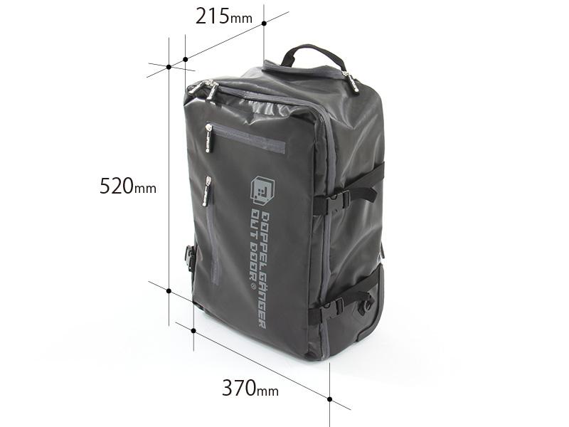 2WAYアウトドアキャリーバッグの各部の特徴(機内持ち込みサイズ)