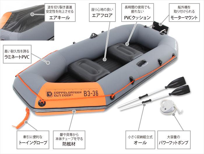インフレータブルボートの主な特徴