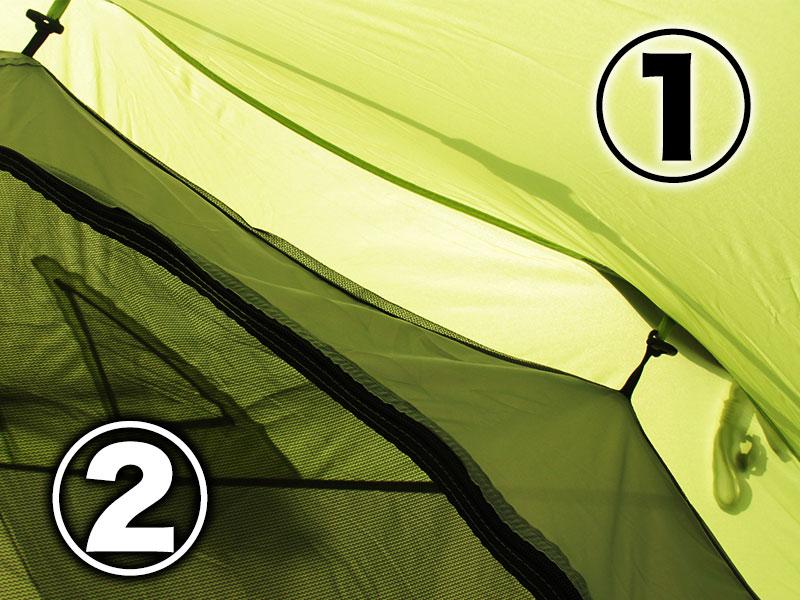 ビッグストレージワンタッチテントの各部の特徴(ダブルウォール)