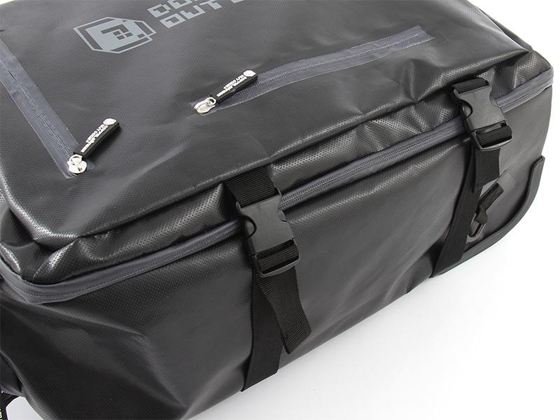 2WAYアウトドアキャリーバッグの各部の特徴(コンプレッションベルト(サイド))