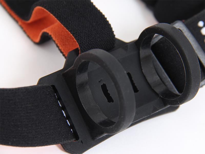 マキシマスパーク 2WAY LEDヘッドライトの各部の特徴(ラバー製ブラケット)