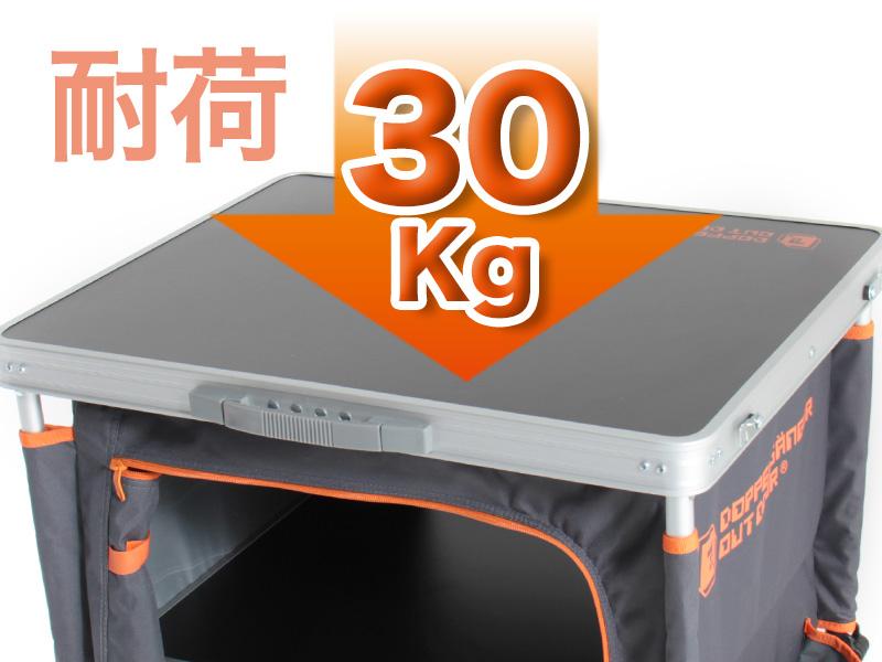 マルチキッチンテーブルの各部の特徴(耐荷重30kg)