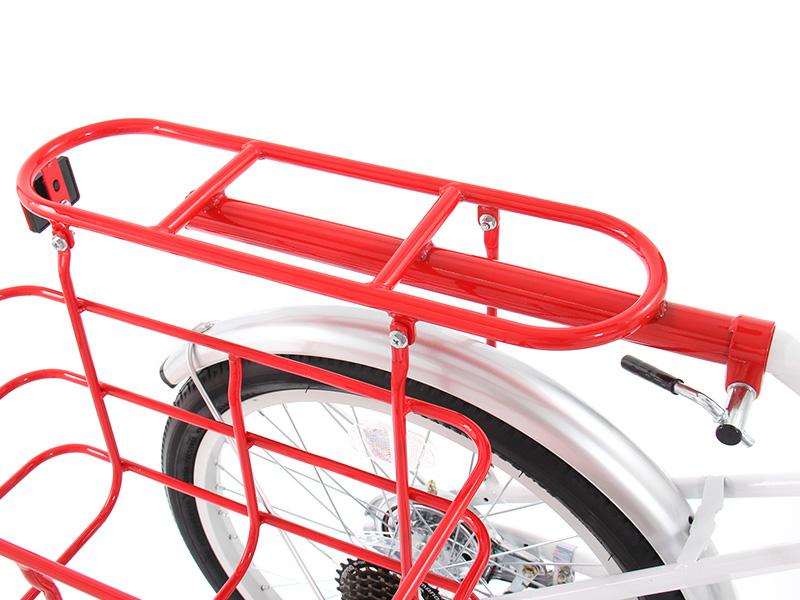 2WAYアウトドアバイクの各部の特徴(後ろキャリア)