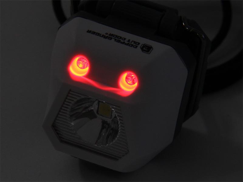 ウルトラマイクロ2WAYヘッドライトの各部の特徴(赤色ポジションライト)