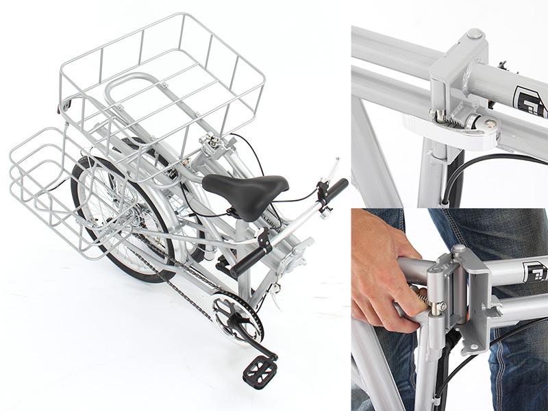 2WAYアウトドアバイクの各部の特徴(折りたたみ機能)