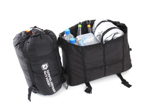 マットインスリーピングバッグの使用の一例