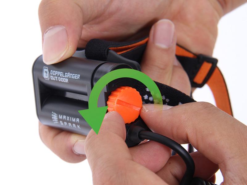 ハイパワーデュアルアイLEDヘッドライト電池の交換方法画像
