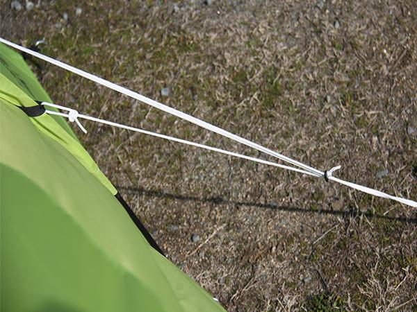 タープリーテントの各部の特徴(ストームロープ)
