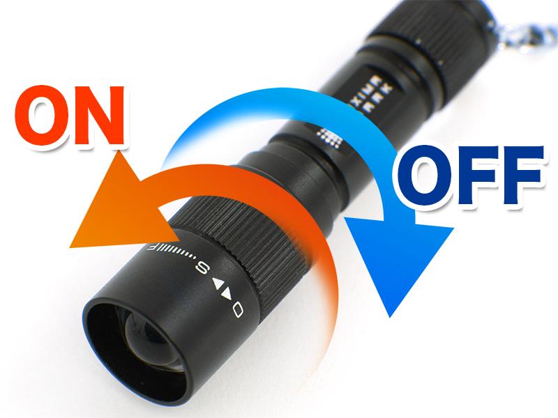 マキシマスパーク LEDマイクロキーライト電源の入れ方画像