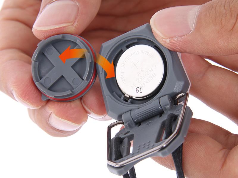 ウルトラマイクロ2WAYヘッドライト電池の交換方法画像