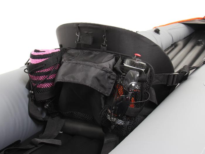 インフレータブルカヤックの各部の特徴(シートバッグ)