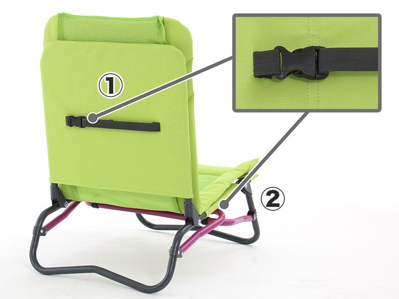 アジャスタブルローチェアロッキングベルトの使い方画像