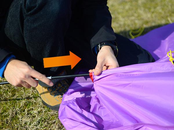 タープリーテントの組立/設営方法