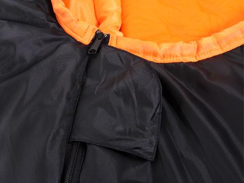 マットインスリーピングバッグの各部の特徴(ベルクロストッパー)