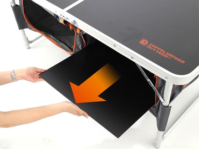 ストレージアウトドアテーブルの収納/撤収方法