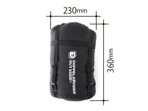 マットインスリーピングバッグの各部の特徴(コンプレッションバッグ)