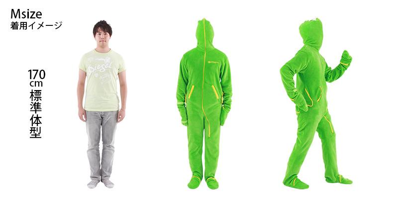 人型寝袋フリース身長170cm標準体型の場合(size M)画像