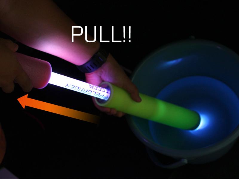 LEDウォーターガン使い方画像