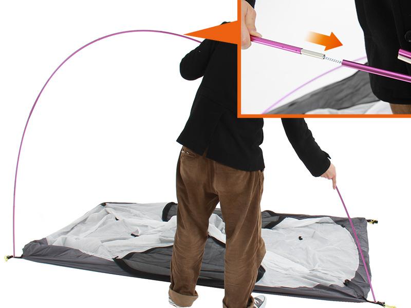 ウルトラライトリラックステントの組立/設営方法