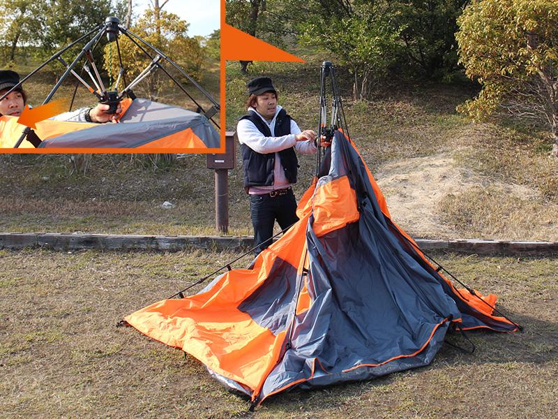 2ルームワンタッチテントの組立/設営方法