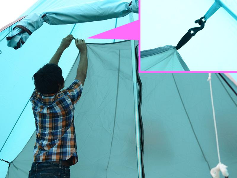 2ルームワンポールテントの組立/設営方法