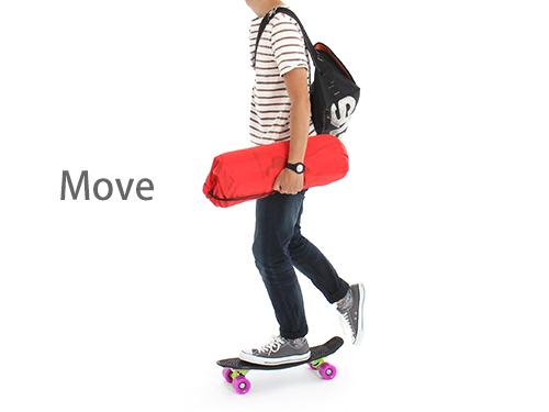 アウトドアスケートボードの使用の一例