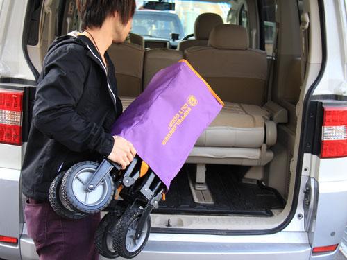 フォールディングキャリーワゴンの使用の一例