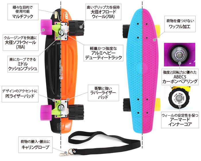アウトドアスケートボードの主な特徴