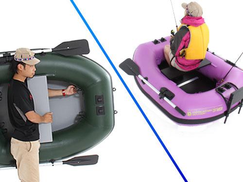 バスフローターボートの各部の特徴(シングルバスフローター)