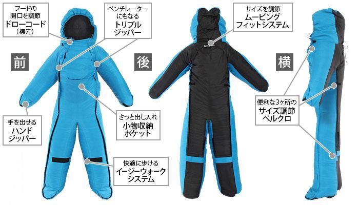 人型寝袋ver5.0の主な特徴