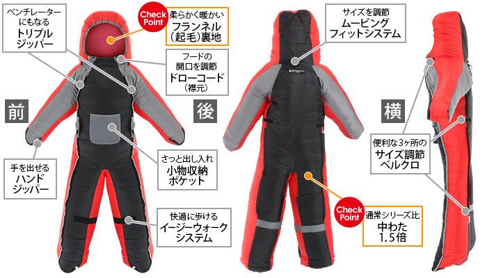 人型寝袋ver5.0 ヌクヌクシリーズの主な特徴