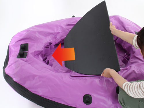バスフローターボートの組立/設営方法