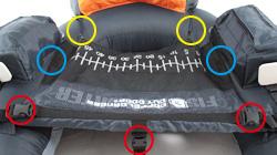 フィッシングフローターの各部の特徴()