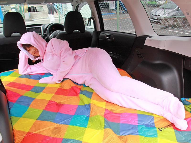 人型寝袋フリースの使用の一例