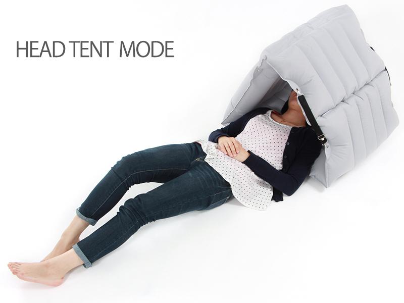 インフレータブルチェアベッド変形一例(チェアベッド単体の場合 )画像