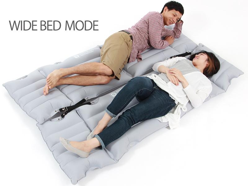 インフレータブルチェアベッド変形一例(チェアベッド複数の場合  )画像