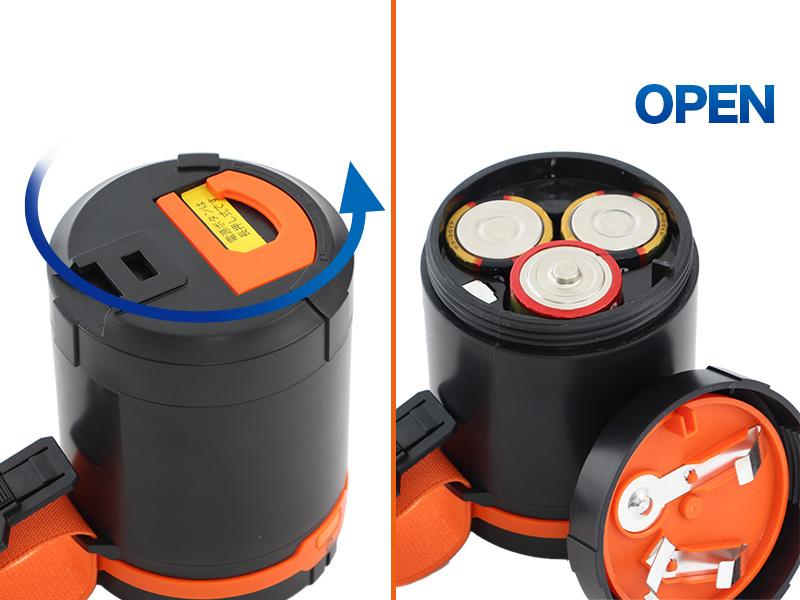 ラージポップアップランタン電池の入れ方画像