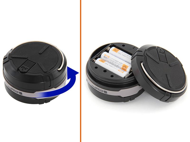 ポップアップランタンプロ電池の入れ方画像
