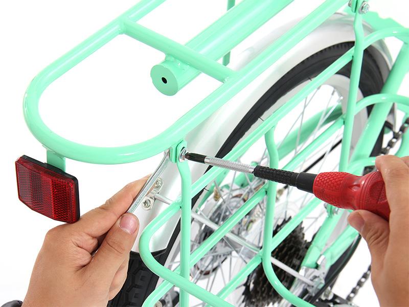 2WAYアウトドアバイクキャリア・カゴ 組立方法画像