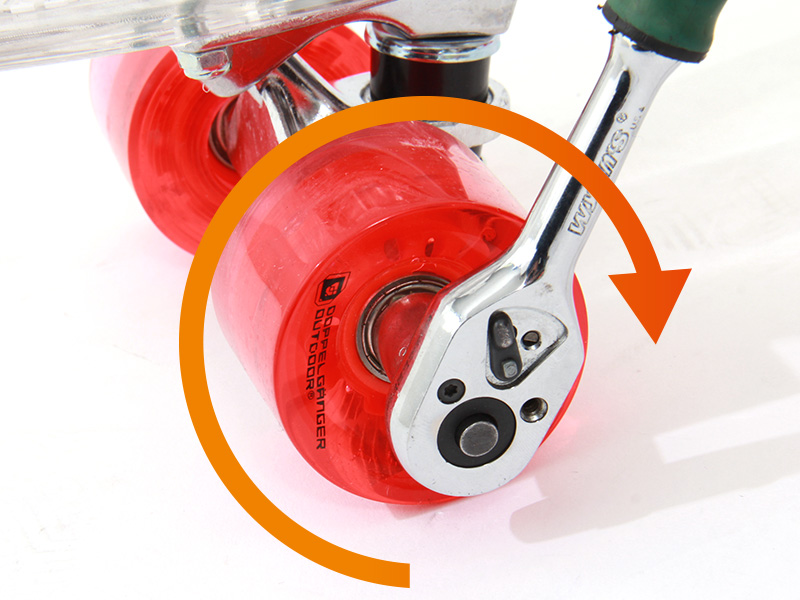 LEDスケートボードウィール交換方法画像