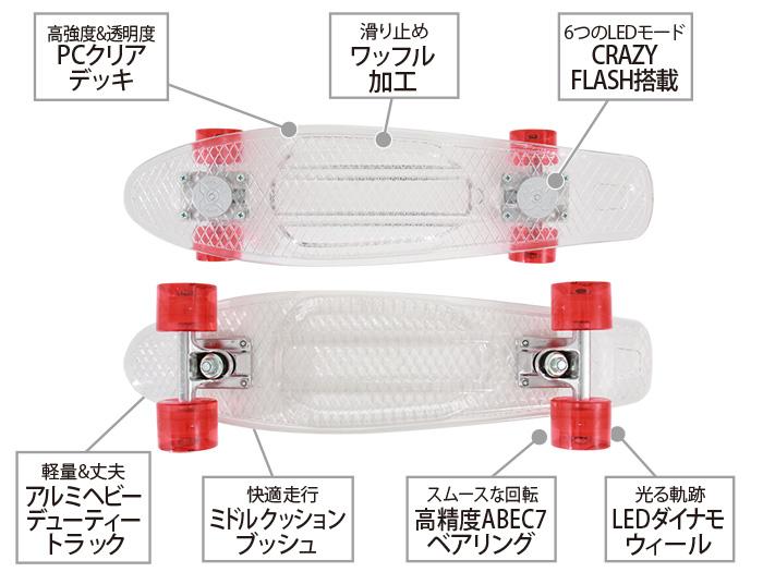 LEDスケートボードの主な特徴